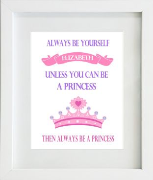 Personalised Be Yourself...Princess Print